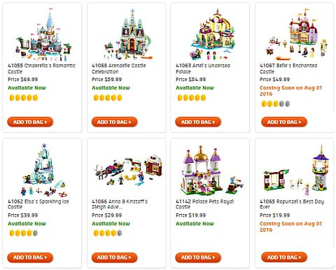 Shop LEGO Disney Princess Summer