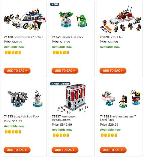 Shop LEGO Ghostbusters