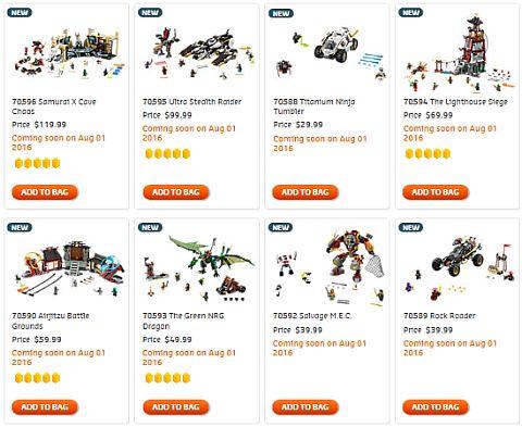 Shop LEGO Ninjago Fall Sets