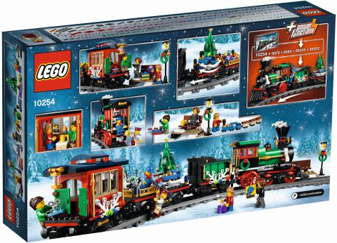 #10254 LEGO Holiday Train Box Back