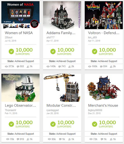 LEGO Ideas Fall 2016