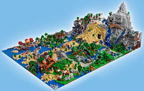 LEGO Minecraft Diorama