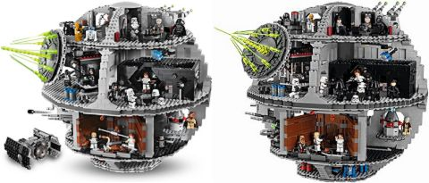 LEGo Star Wars Death Star Comparison 2
