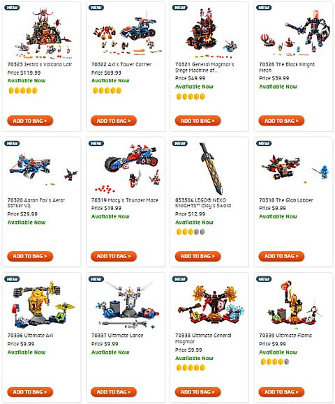 Shop LEGO Nexo Knights Summer 2016