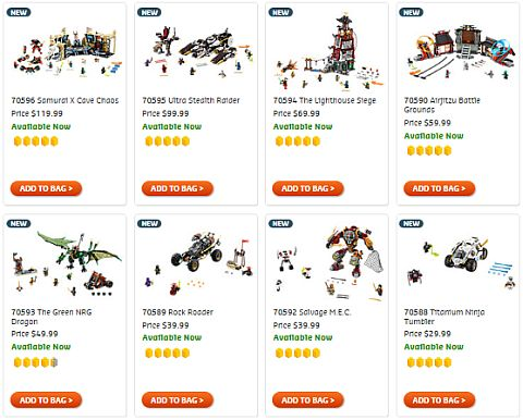Shop LEGO Ninjago September Sets