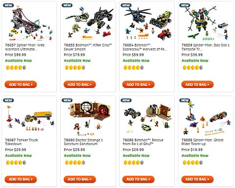 Shop LEGO Super Heroes Summer Sets
