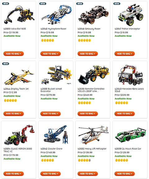 Shop LEGO Technic 2016 Summer