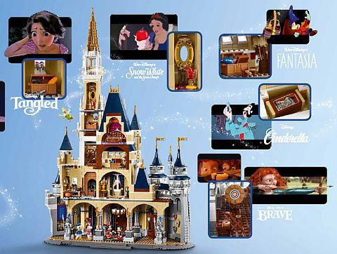 #71040 LEGO Disney Castle Display 3