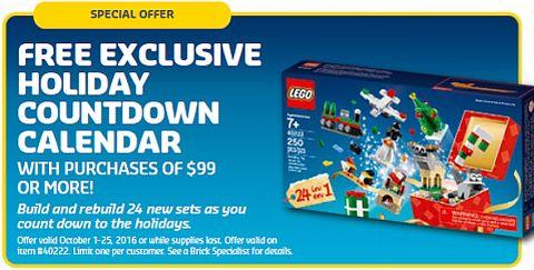 LEGO Advent Calendar Promotion