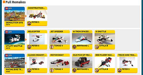 LEGO Remake Website Remakes