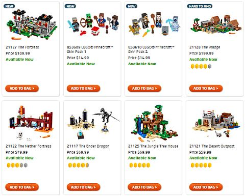 Shop LEGO Minecraft Fall Sets