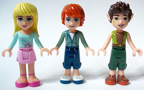 Lego New Light Flesh Mini Doll Head Friends with Brown Eyes Glasses Female