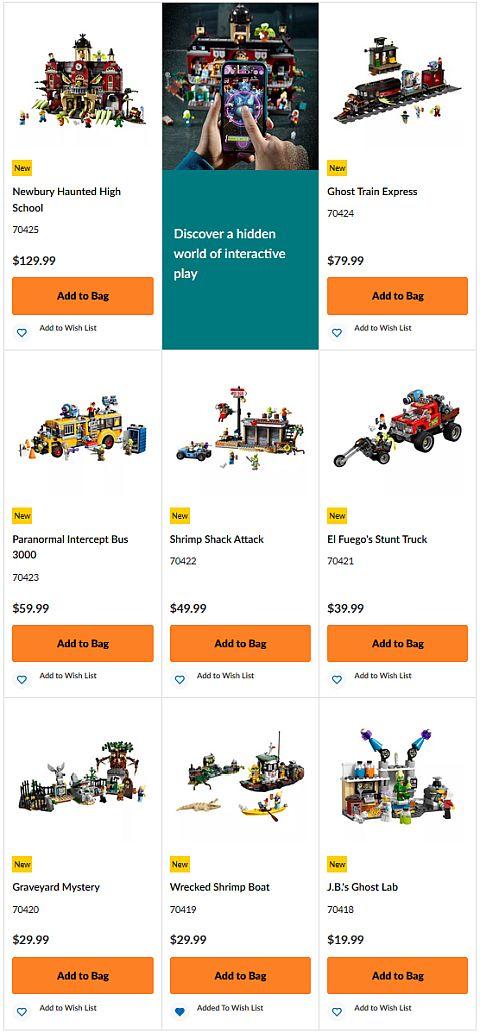 Lego Hidden Side Sets App Overview