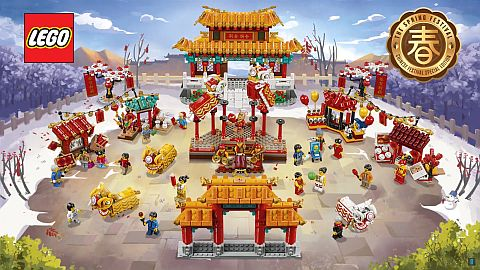 Lego Exclusive Chinese minifigures 80101 80102 80103 sets NEW Boat Dragon Dinner