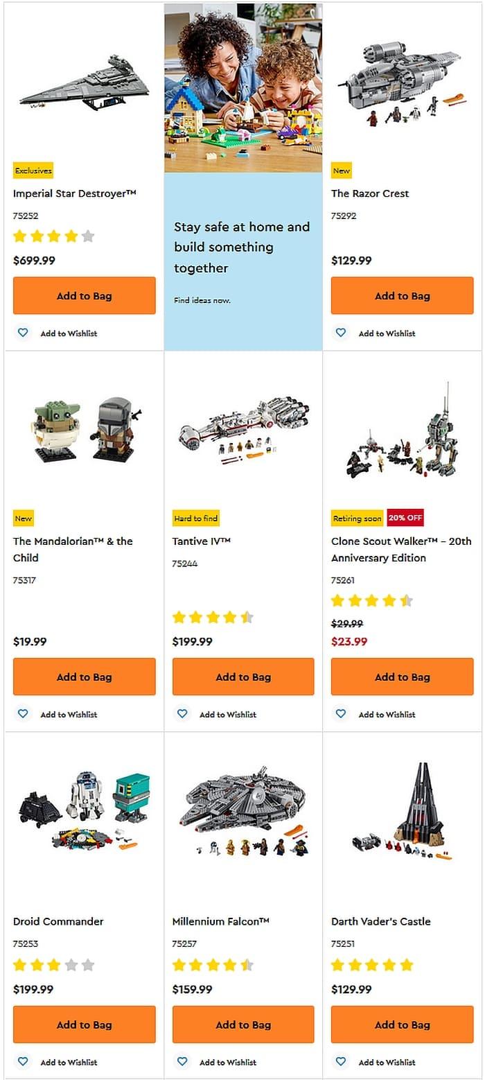Shop LEGO Star Wars 2020