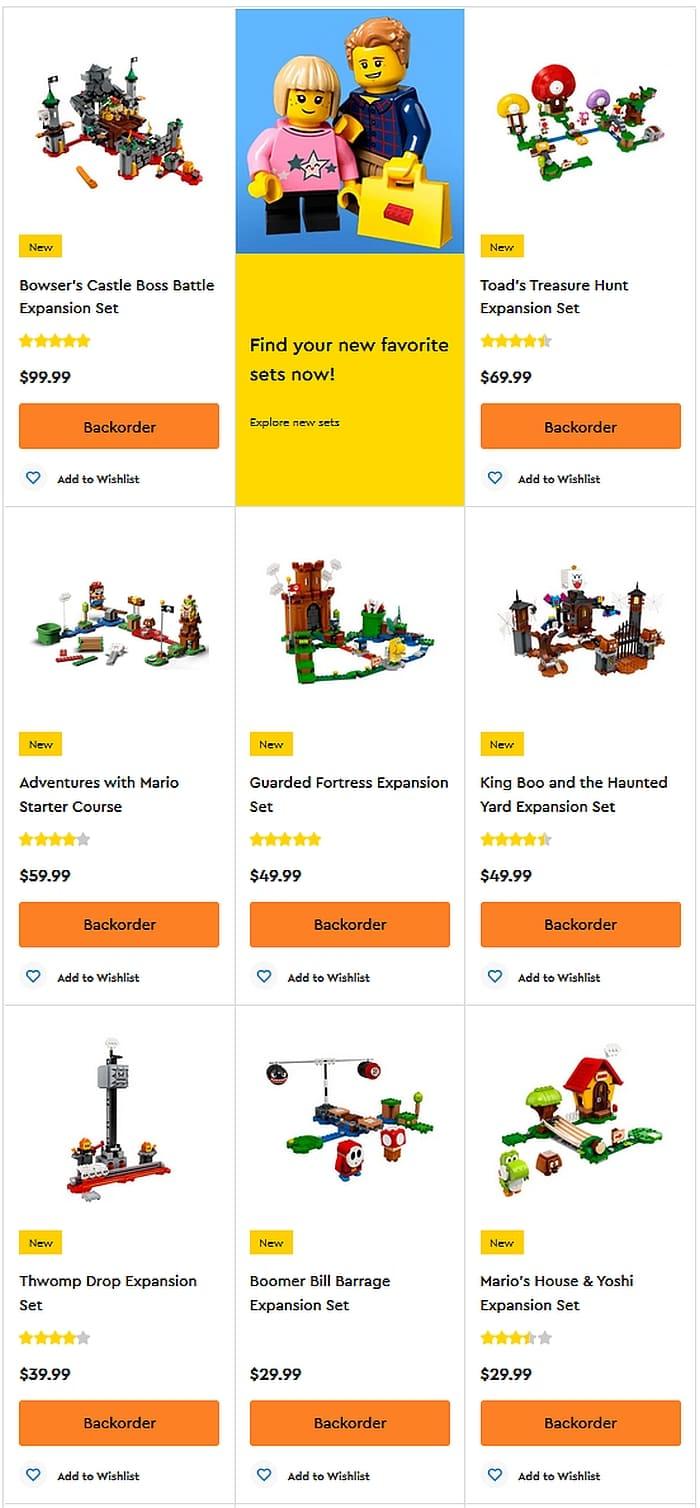Shop LEGO Super Mario
