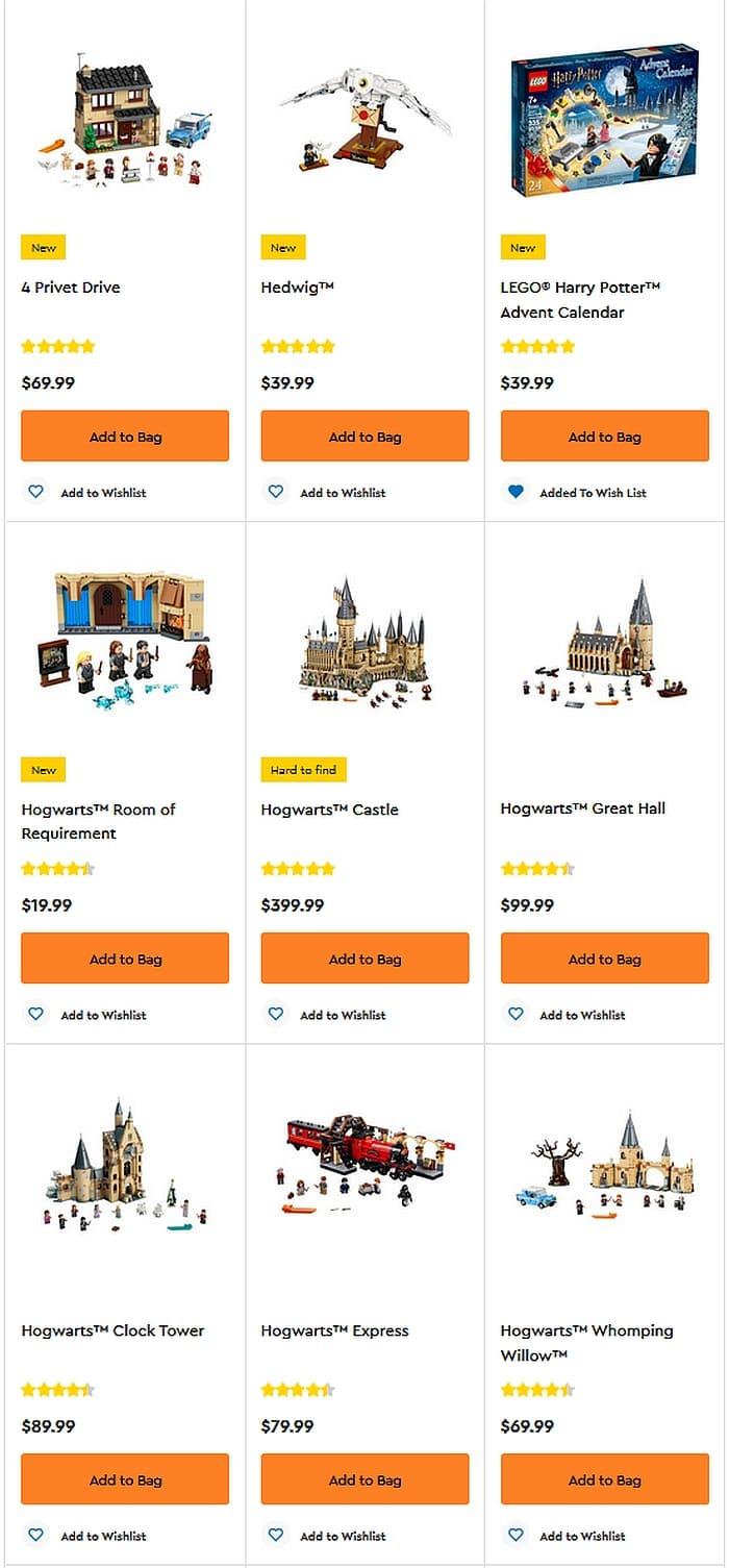 Shop LEGO Harry Potter 2020 2
