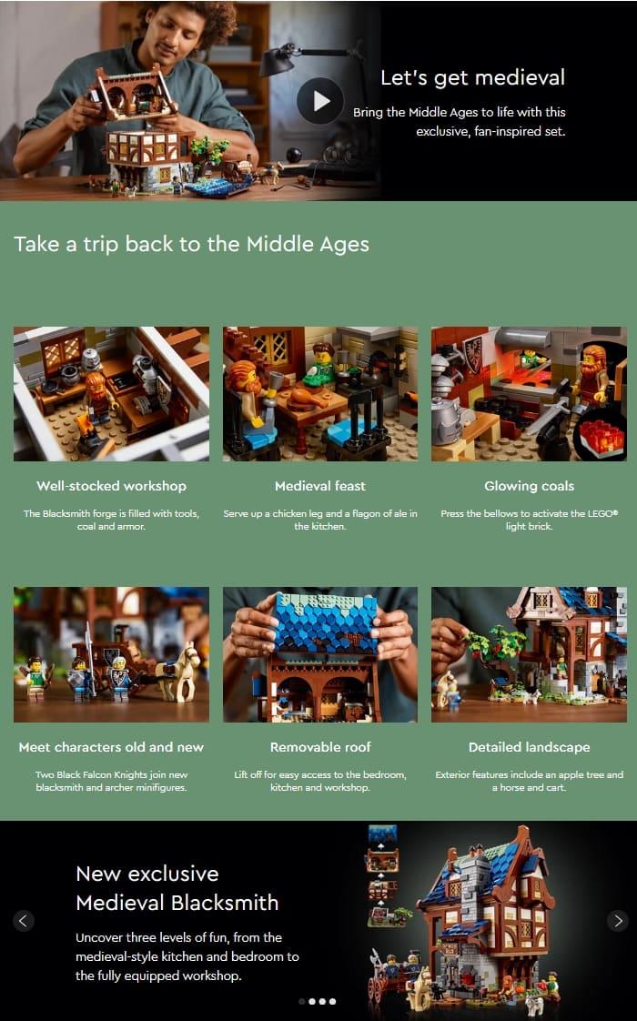 21325 LEGO Ideas Medieval Blacksmith 8