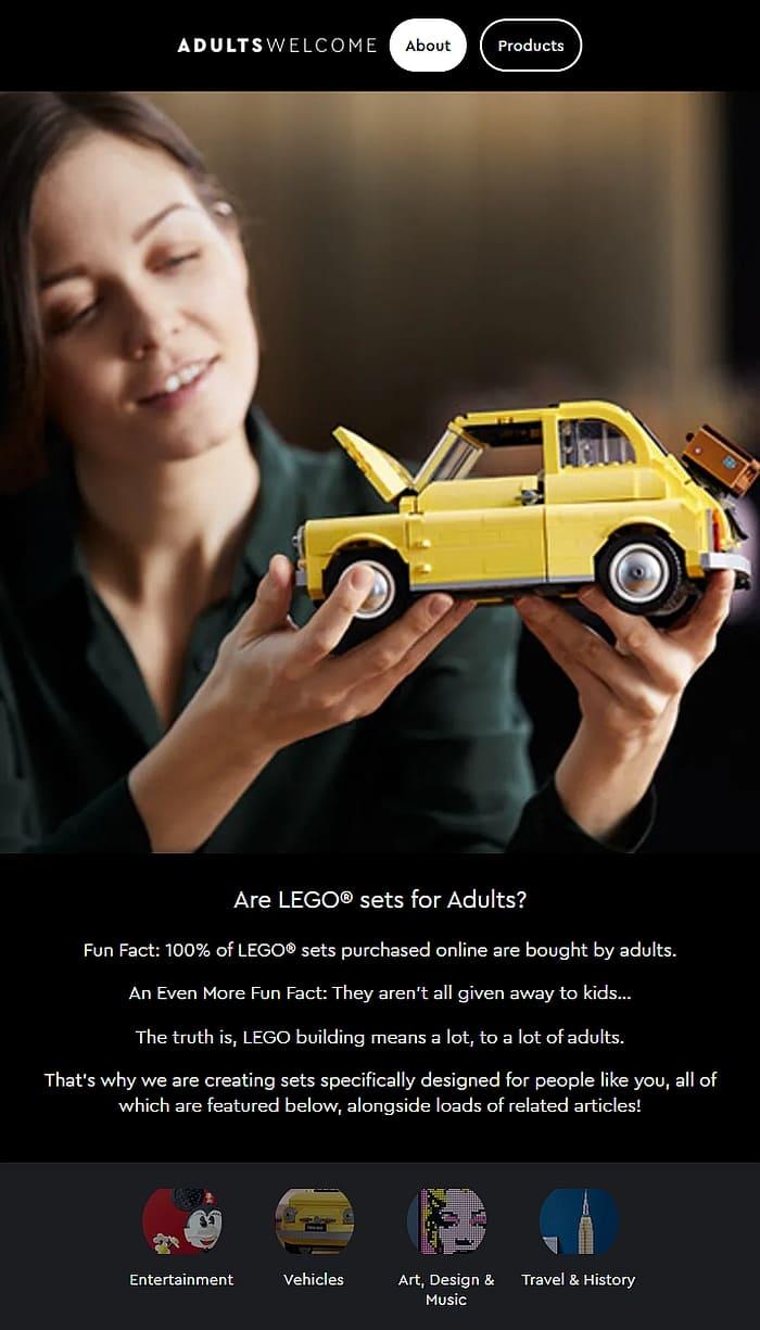 LEGO Adults Welcome 1