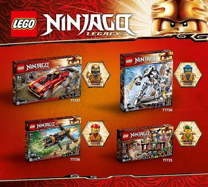 LEGO Ninjago Legacy Sets & 10th Anniversary Sets