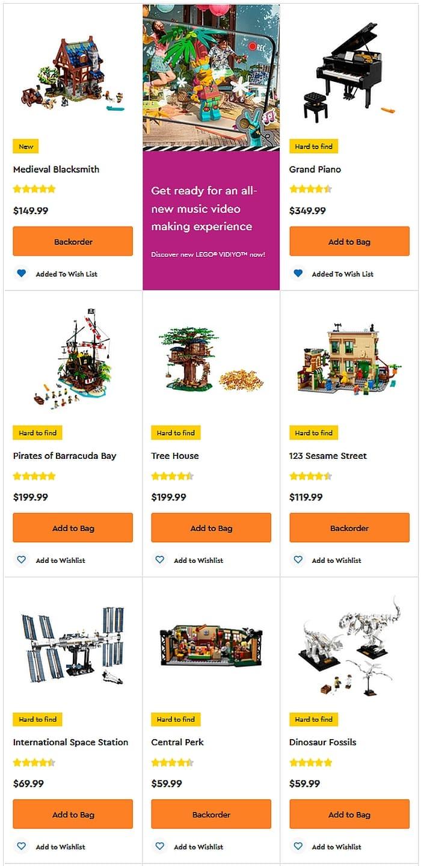 Shop LEGO Ideas 2021