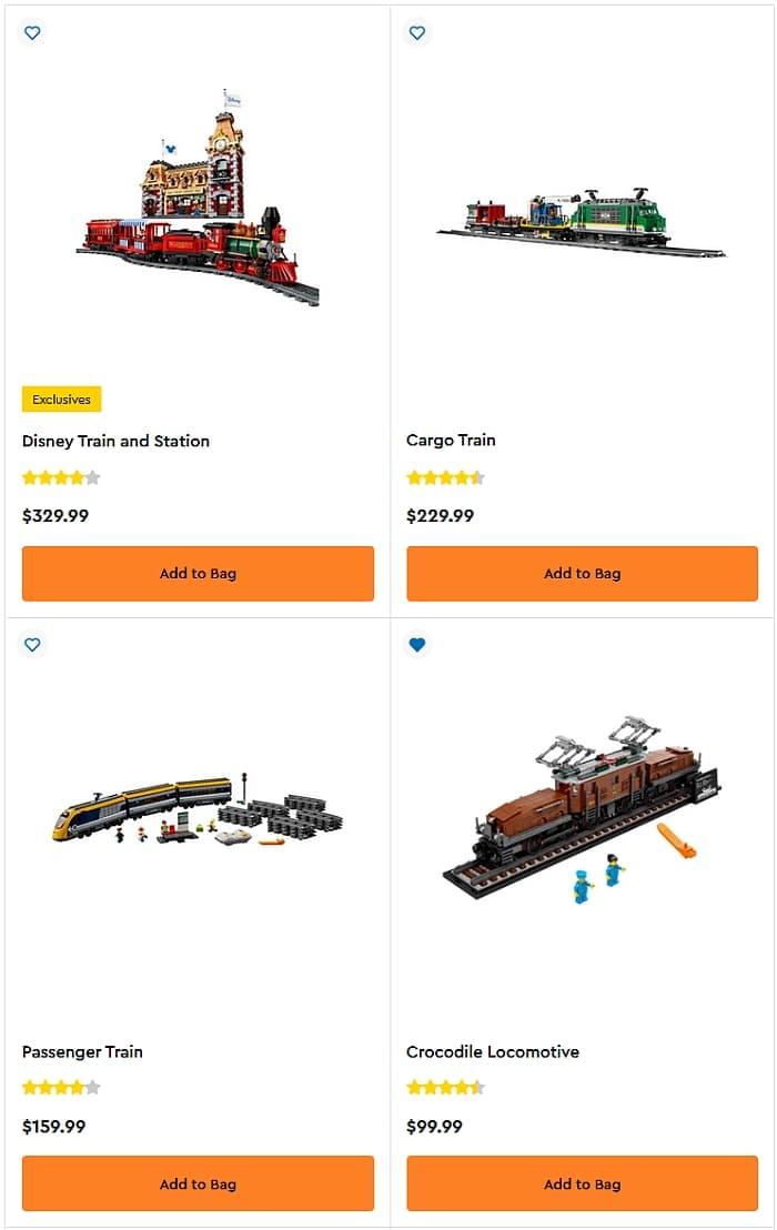 Shop LEGO Trains 4