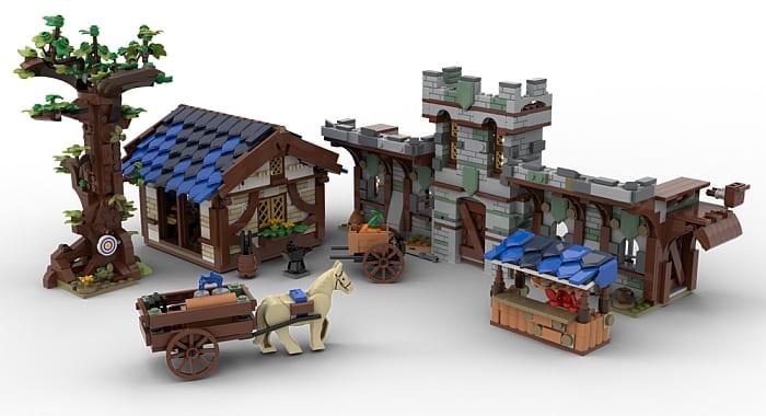 Custom LEGO Medieval Building 1