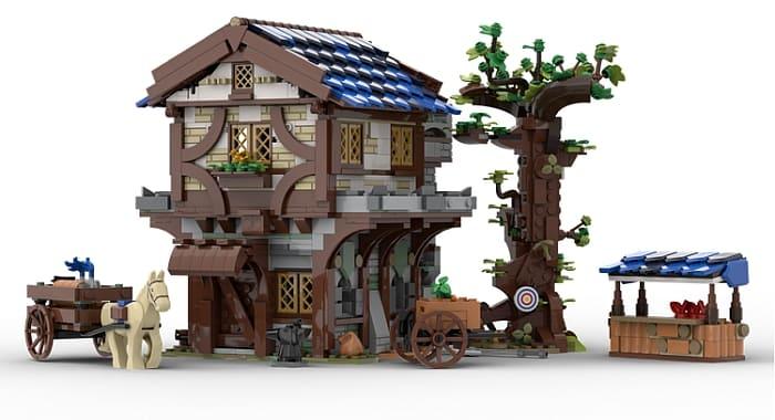 Custom LEGO Medieval Building 2