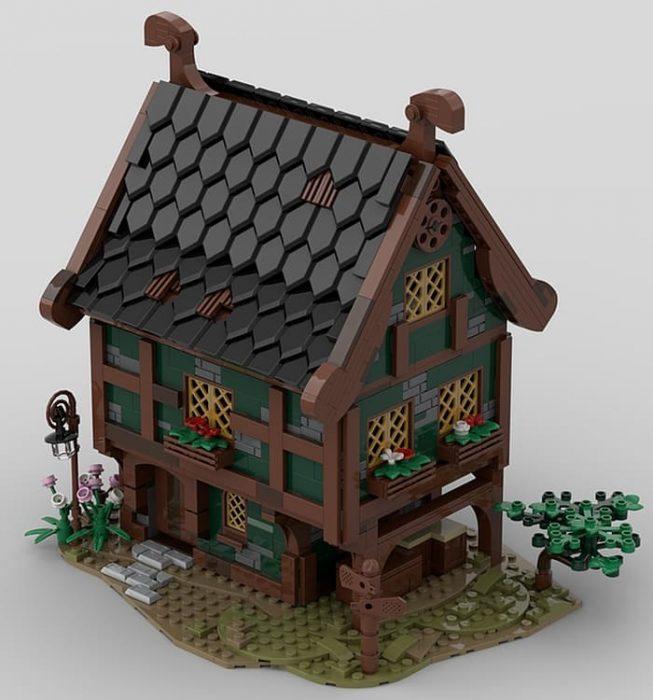 Custom LEGO Medieval Building 4