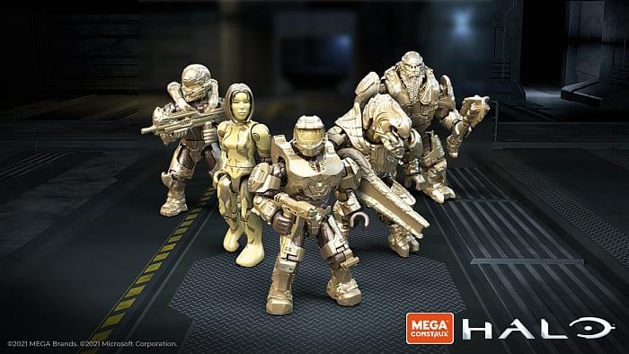 LEGO Golden Anniversary Minifigs Mega Construx Halo