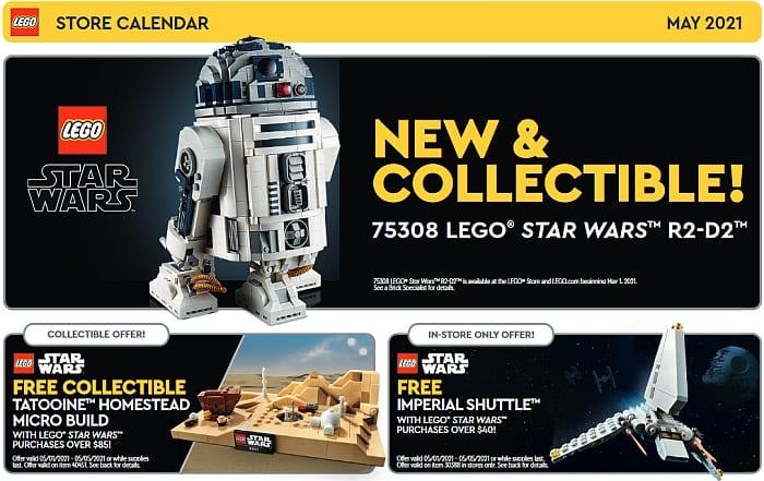 LEGO Store Calendar May 2021