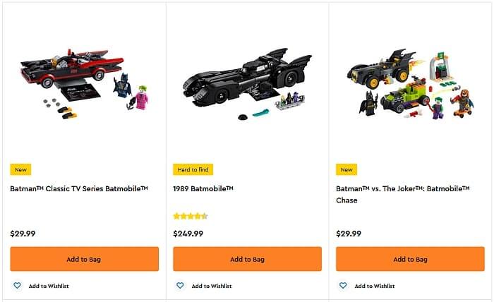 Shop LEGO Batmobile Sets