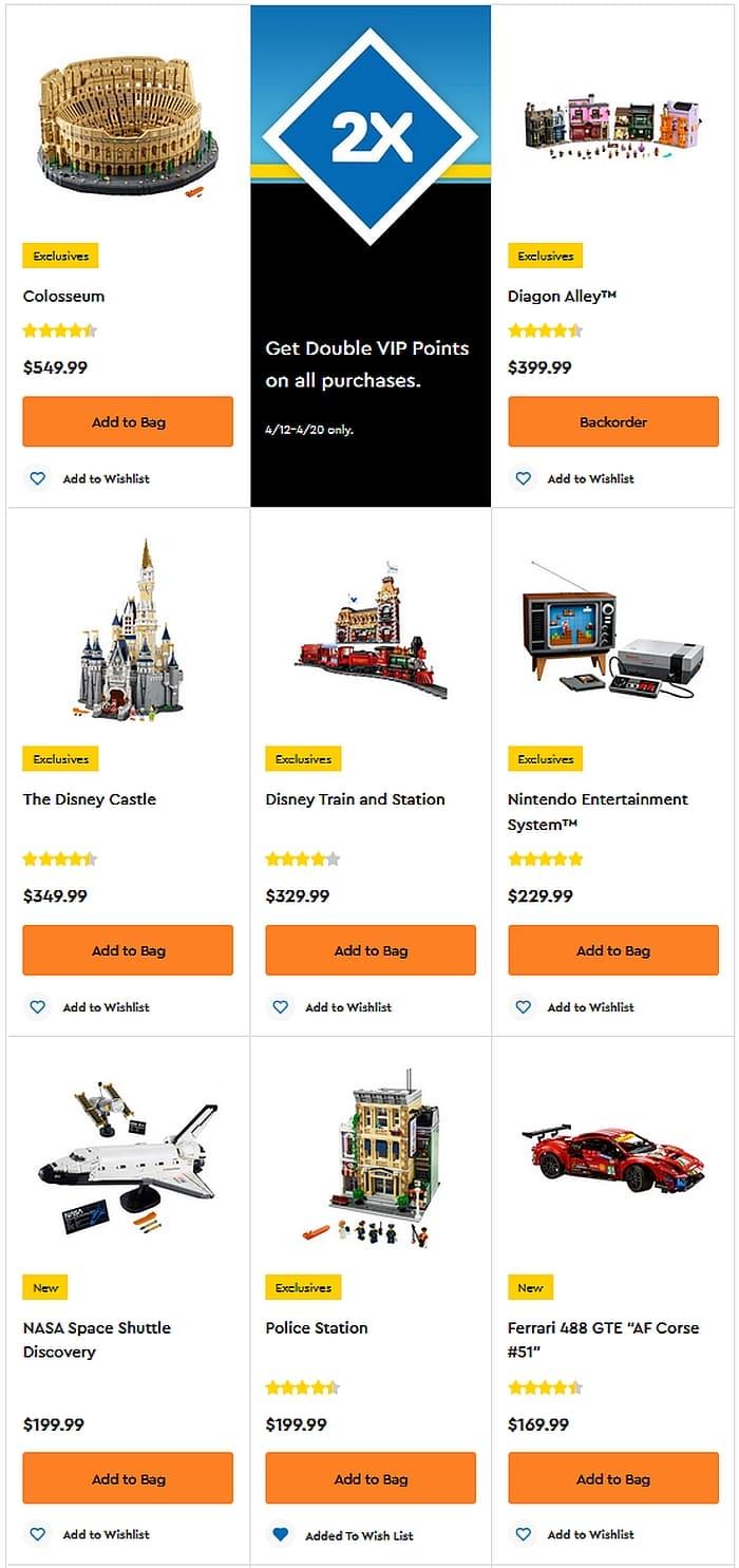 Shop LEGO Double VIP Points 7