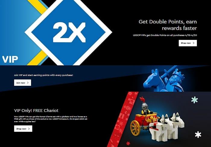 Shop LEGO Double VIP Points 8