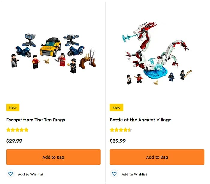 Shop LEGO Legend of the Ten Rings