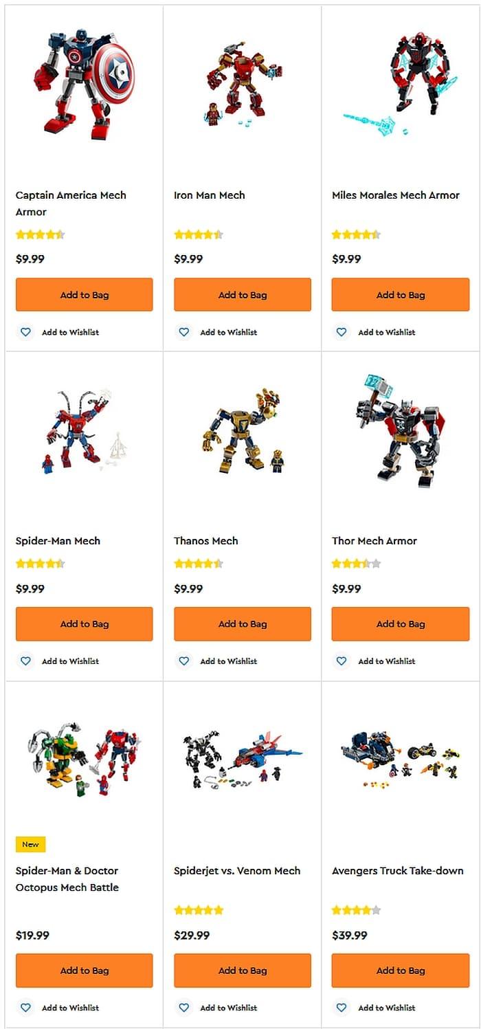 Shop LEGO Marvel Super Heroes Mechs