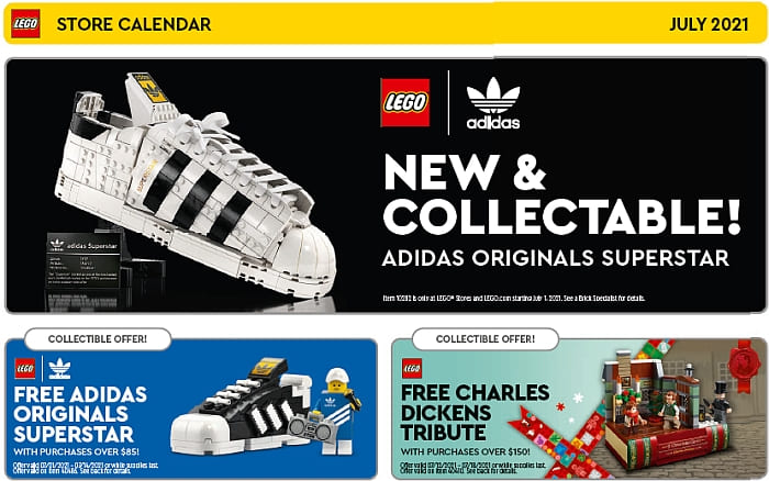 LEGO Store Calendar July 2021