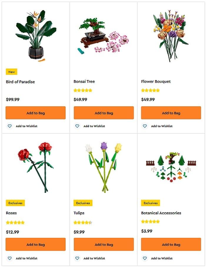 Shop LEGO Botanical Sets 2