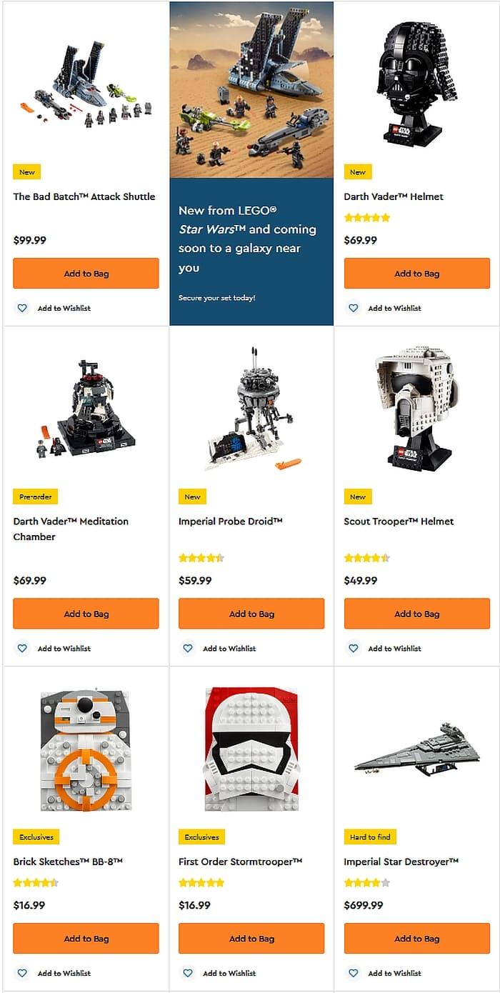 Shop LEGO Star Wars 2021