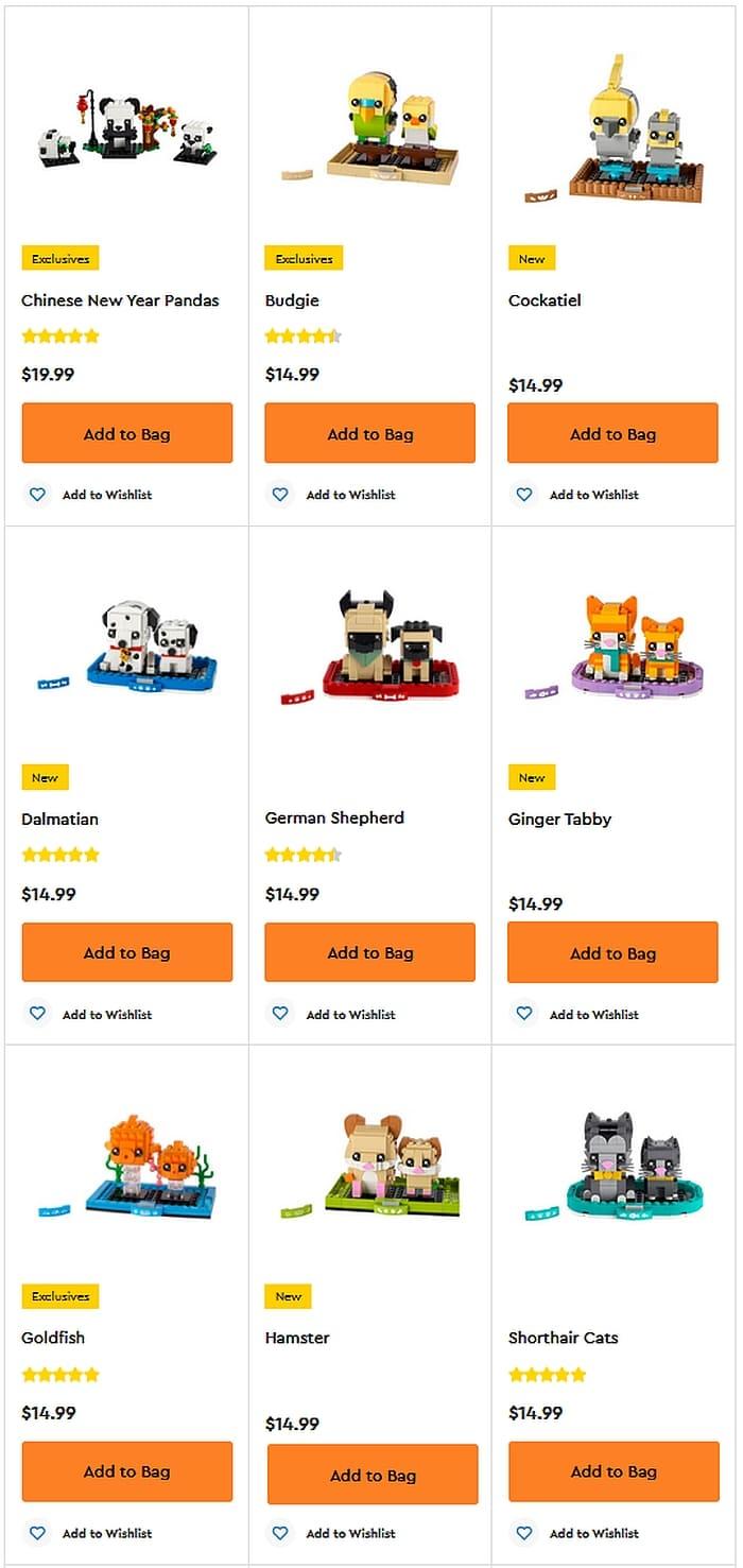 Shop LEGO BrickHeadz Pets 1