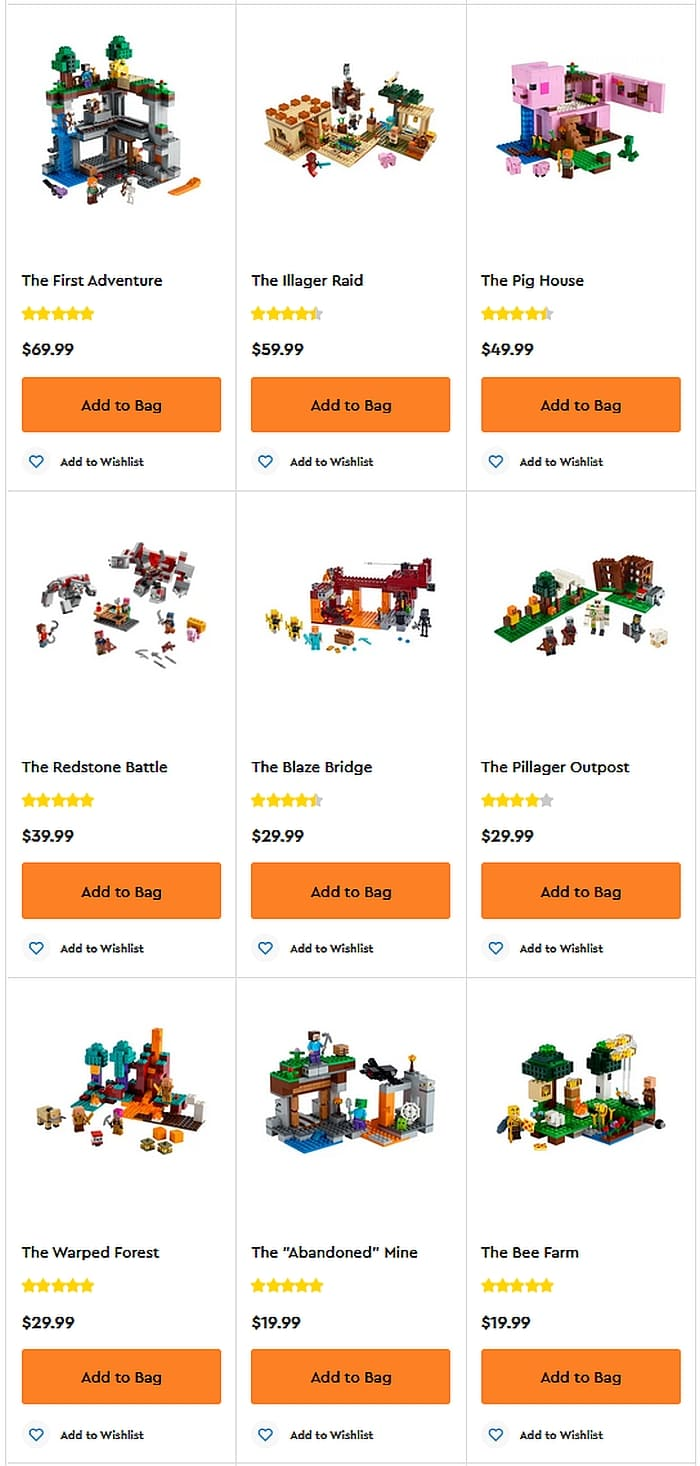 Shop LEGO Minecraft 2021